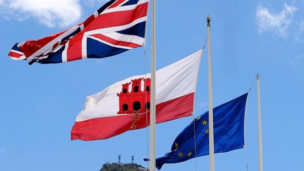 banderas UK, Gibraltar y UE